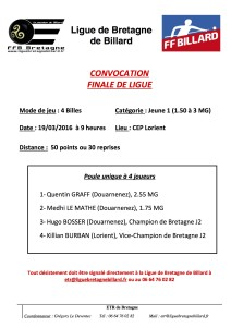 CONVOCATION 4 Billes J1